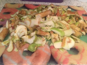 apple peelings